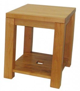 Boxwood condo end table, in-house design, solid wood, custom sizing
