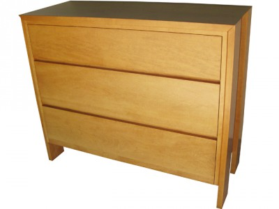 Chesterman 3 drawer chest- custom in-house design, solid wood, locally built