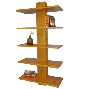 Plug n Play wall mounted bookshelf