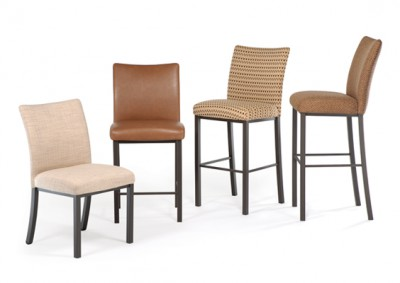 Biscaro dining chair, available in stool versions