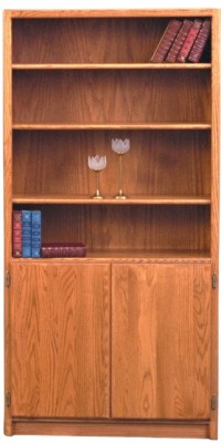 Contemporary Bookcase with doors - solid wood locally built