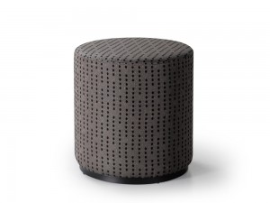 Marshmallow ottoman by Trica, Quebec, welded steel ring base