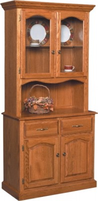 Traditional Buffet & 1/2 Hutch - solid wood, locally built