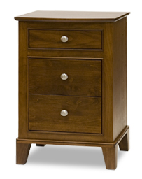 Fifth Avenue nightstand - 3 drawer, solid wood, custom built to order furniture, locally built, Canadian made,