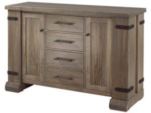 Acton Central server - solid wood, custom built furniture, Canadian made