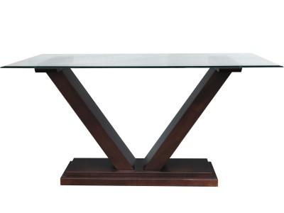 Ambassador table with glass top