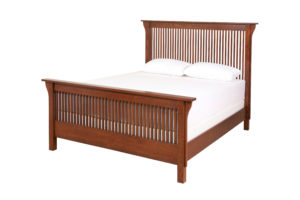 Heirloom Mission bed by Woodworks - solid wood, locally built, Canadian made
