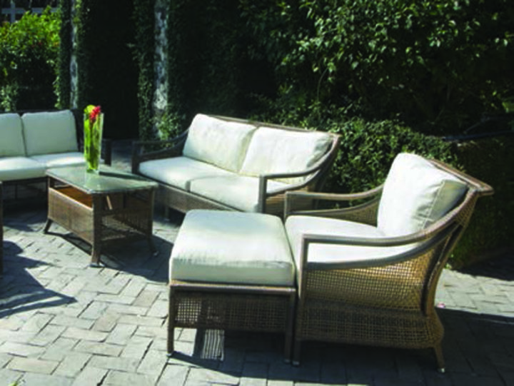 Mandalay Lounge set by Mountain House - outdoor furniture , aluminum frame, resin weave