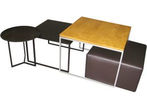 Mix N Match occasionals - solid wood tops, welded steel frames, built to order, locally made
