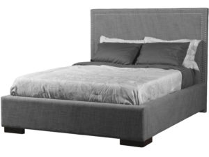 Monaco Bed by Van Gogh Designs - solid wood, fully upholstered, Canadian made, built to order