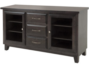 Pender TV stand - solid wood, locally built, Canadian made