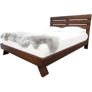 Queue Platform bed - solid wood, locally built, Canadian made, built to order