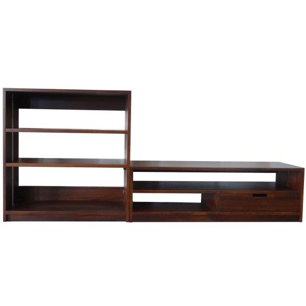 Queue Entertainment - solid wood, locally built, custom in-house design furniture, Canadian made