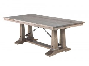 Shechem dining table, solid wood, Canadian built , custom furniture