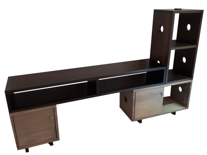 Stackers Entertainment unit - solid wood furniture custom built to order locally built, Canadian made