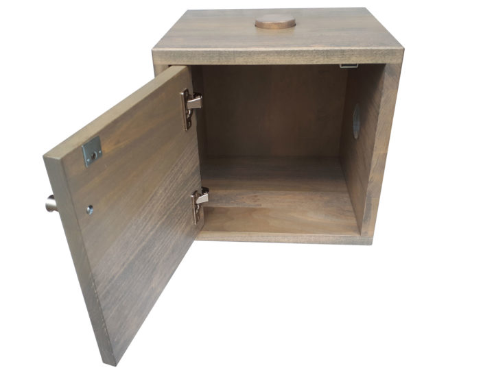 Stackers Square - solid wood locally built, custom in-house design Canadian made