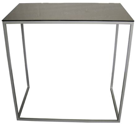 Console Table -Bronzed Mirrored Top