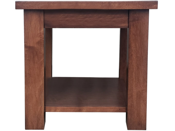 Vadero End Table - solid wood, locally built, Canadian made