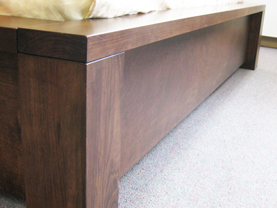 Custom Solid wood Boxwood Bed with storage drawers - Built to order