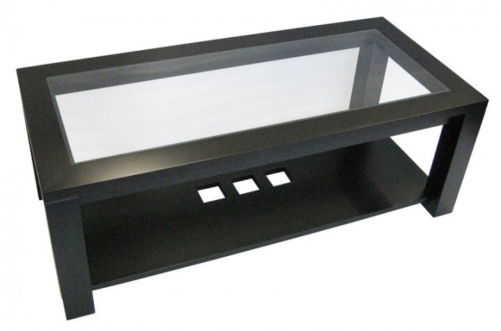 coffee table - in-house design, locally built, solid wood, custom made to order furniture, Canadian made