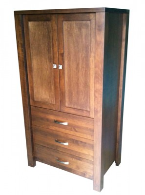 Boxwood Wardrobe/Armoire (solid doors) - solid wood made in BC