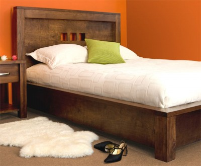 Custom Solid wood Boxwood Bed - Built to order