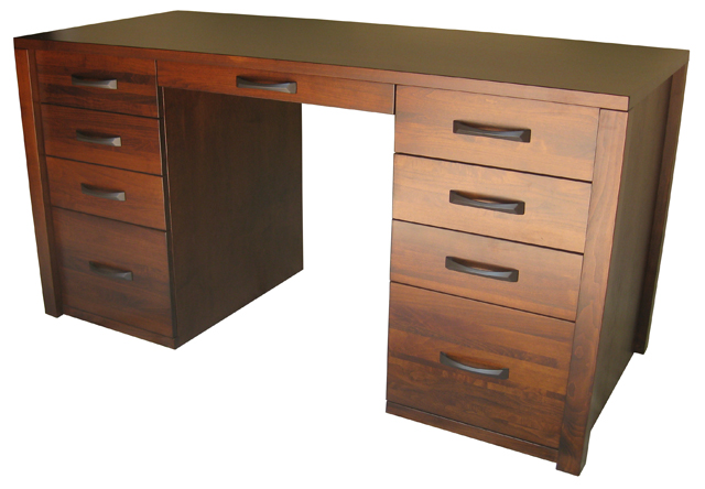 Boxwood 9 Drawer Desk - custom solid wood, locally built, in-house design, Canadian made