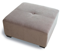 Java ottoman by Stylus - solid wood frame, fully upholstered, locally built to order furniture, Canadian made