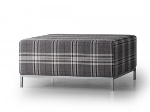 Lepouf ottoman with legs, from Trica