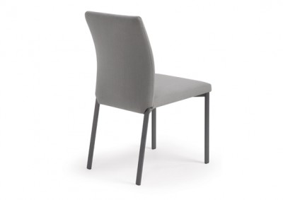 Mancini chair by Trica - welded steel, Canadian made, fully upholstered custom built furniture