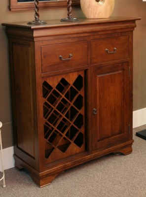 Morgan Wine Server - solid wood, locally built