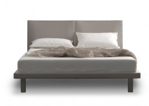 Quadrato Bed - welded steel & upholstered frame made by Trica