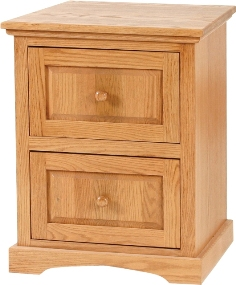 Shaker 2 drawer filing cabinet by Woodworks - solid wood, locally built, Canadian made