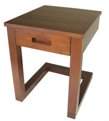 Tangent End Table - solid wood, locally built, custom in-house design