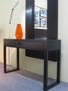 Tangent Sofa Table, in-house design, locally built, solid wood, custom made to order furniture, Canadian made