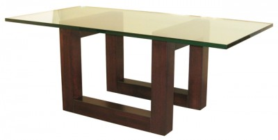 Tangent Versa Coffee Table, in-house design, solid wood, custom sizing