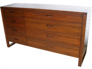 Tangent 8 drawer solid wood dresser - built to order bedroom furniture