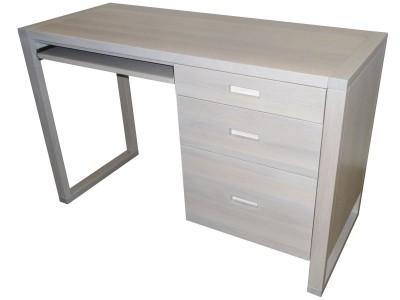 Tangent Desk-White wash white oak, solid wood locally built